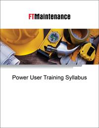 FTMaintenance Power User Training Syllabus